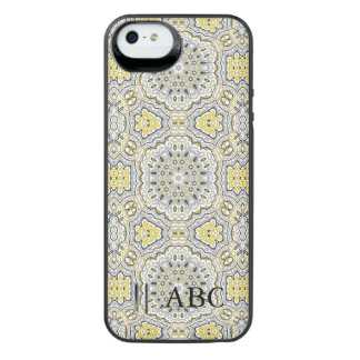 Arabesque pattern w/ monogram iPhone 6 plus case