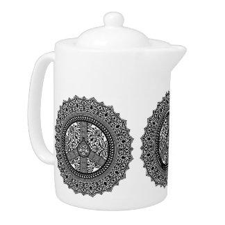 Arabesque Peace Teapots
