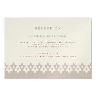 Arabesque Reception Card | Champagne Shimmer