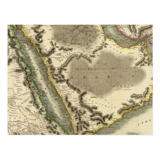 Arabia, Egypt, Abyssinia, Red Sea Postcard
