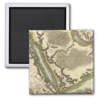 Arabia, Egypt, Abyssinia, Red Sea Square Magnet