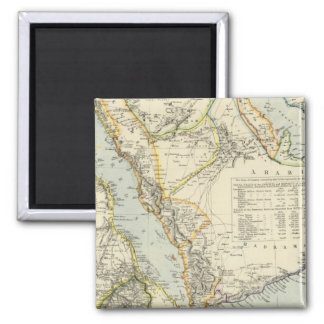 Arabia, Egypt, Nubia, Abyssinia 2 Square Magnet