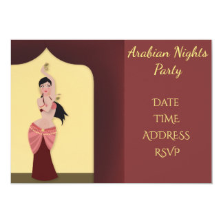 Arabia Nights Belly dancing party 13 Cm X 18 Cm Invitation Card