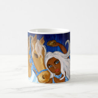 Arabian Blues Belly dance Mug Half Wrap