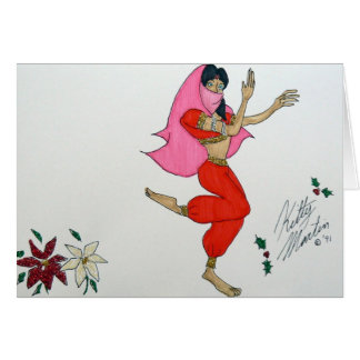 Arabian Dance Card