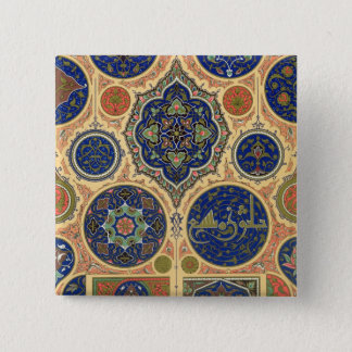 Arabian Decoration, plate XXVII from 'Polychrome O 15 Cm Square Badge