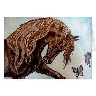 Arabian Horse & butterflies Card
