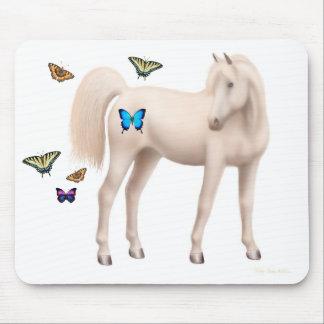 Arabian Horse & Butterflies Mousepad