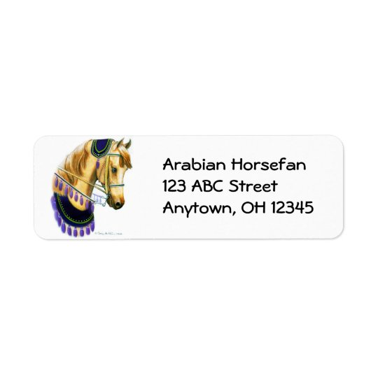 Arabian Horse in Costume Label Return Address Label