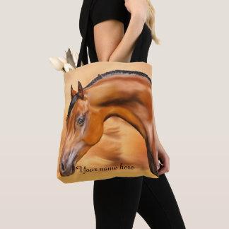 Arabian Horse Personalized Tote Bag