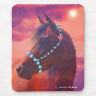 Arabian Horse Portrait Sunrise Mousepad