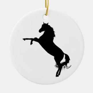 Arabian Horse Silhouette Christmas Ornament