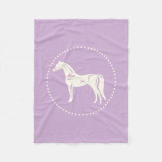 Arabian Horse Silhouette Fleece Blanket