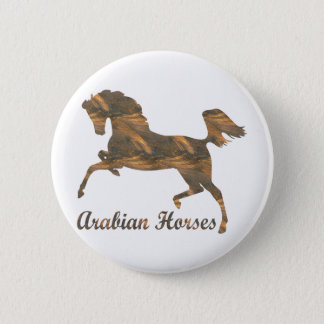 Arabian Horses 6 Cm Round Badge