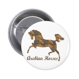 Arabian Horses 6 Cm Round Badge