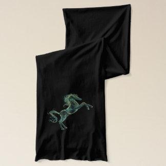 Arabian Horses Black Jersey Scarf