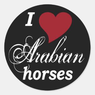 Arabian horses classic round sticker