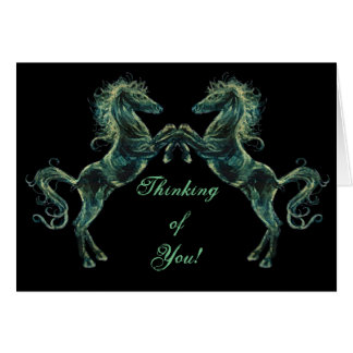 Arabian Horses Greetings Card