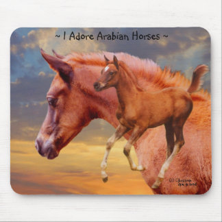 Arabian Horses Sunrise Mousepad
