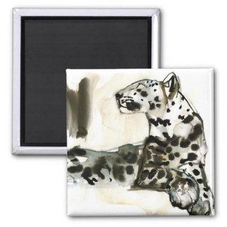 Arabian Leopard 2008 Square Magnet