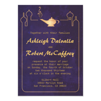 Arabian Magic Lamp Wedding Invitations