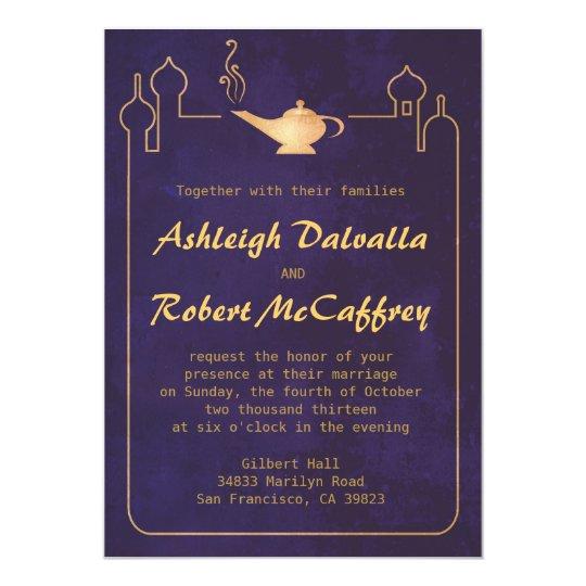 Arabian Magic Lamp Wedding Invitations