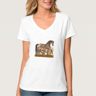 Arabian mare and foal T-Shirt