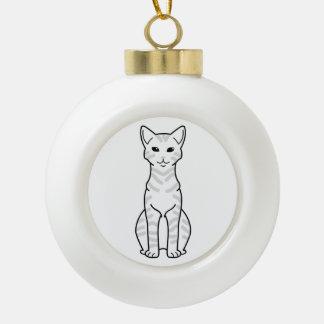 Arabian Mau Cat Cartoon Ceramic Ball Christmas Ornament