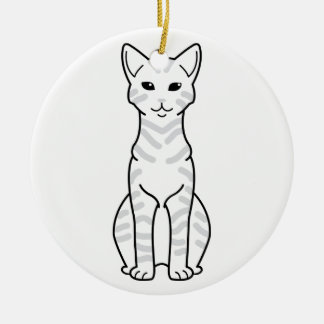 Arabian Mau Cat Cartoon Christmas Ornament