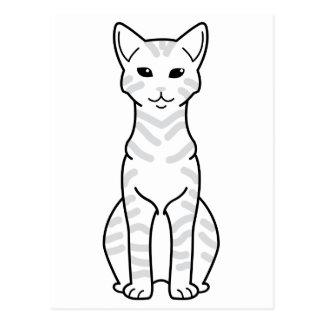 Arabian Mau Cat Cartoon Post Card