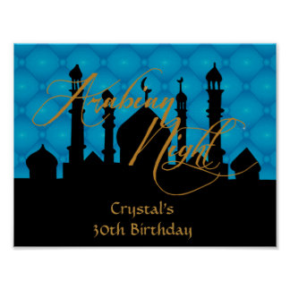 Arabian Night, 30th Birthday Party Poster