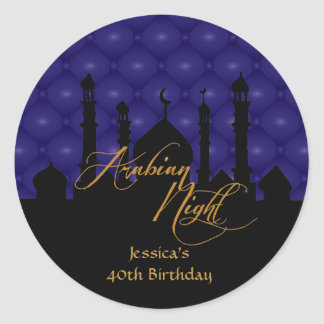 Arabian Night, Birthday Party Stickers