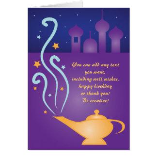 Arabian Nights 2 Magic Lamp  Thank You Card