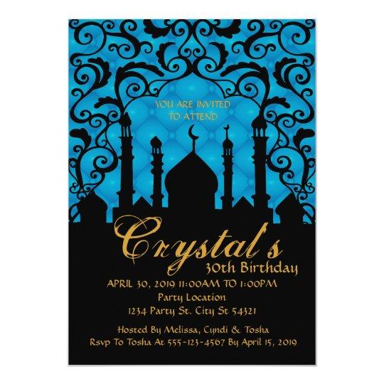 Arabian Nights, 30th Birthday Invitations