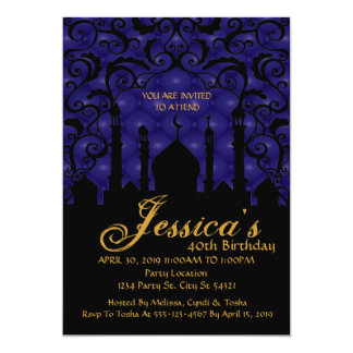 Arabian Nights, 40th Birthday Invitations