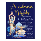 Arabian Nights Any Number Birthday Invitations