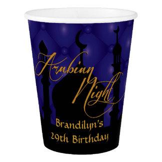 Arabian Nights Birthday, Custom Paper Cup