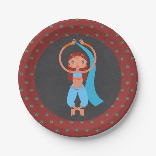 Arabian nights girl Birthday Party Paper Plate