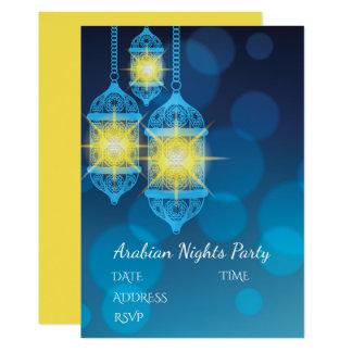 Arabian Nights Lanterns party theme 13 Cm X 18 Cm Invitation Card