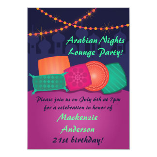 Arabian Nights Lounge Party Invitation