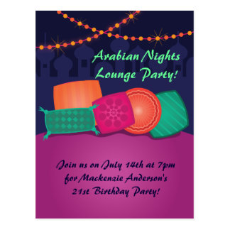 Arabian Nights Lounge Party Postcard