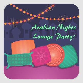 Arabian Nights Lounge Party Stickers