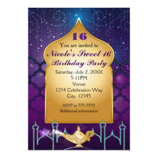 Arabian Nights Magical Moroccan Birthday Party Card