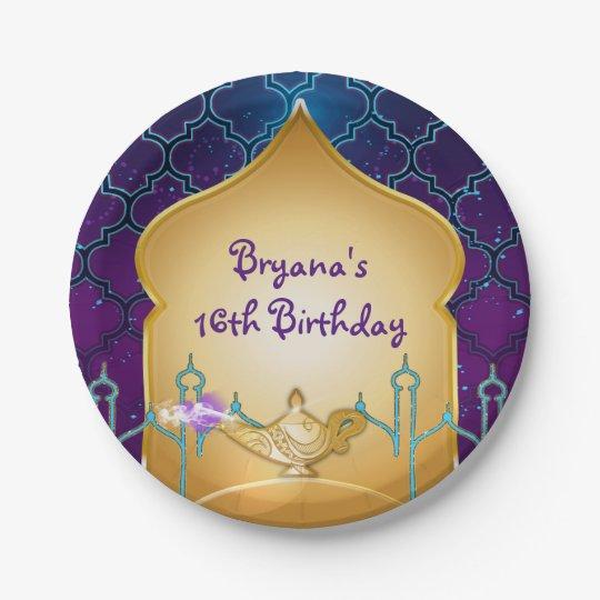 Arabian Nights Moroccan Birthday Party Plates 7 Inch