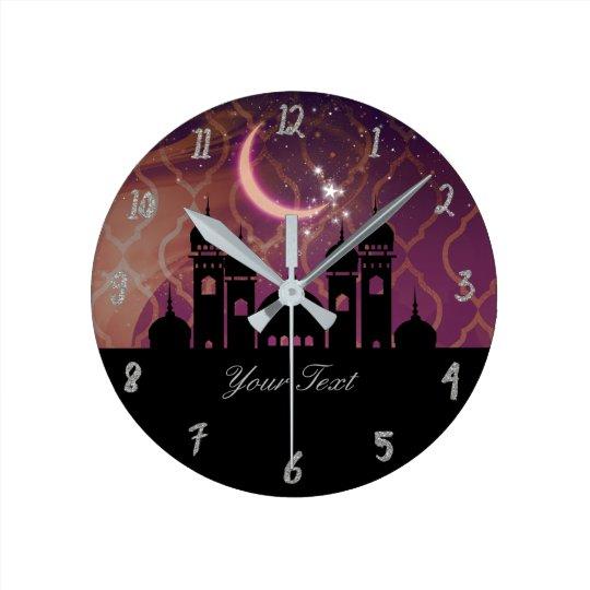 Arabian Nights Moroccan Personalised Round Clock