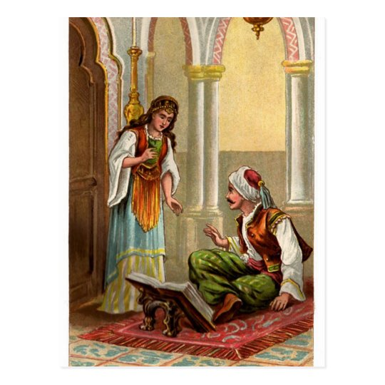arabian nights postcard