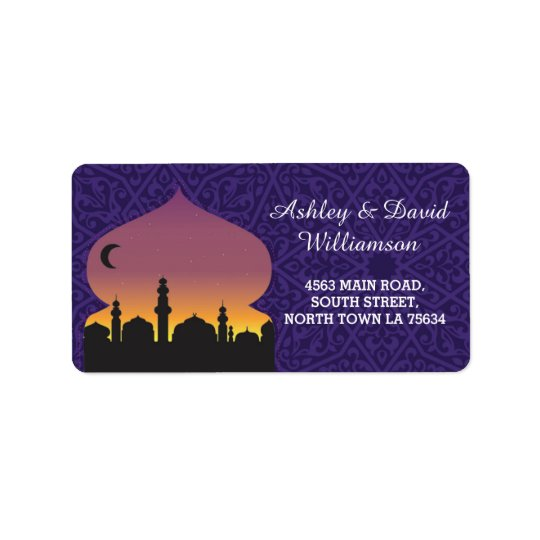 Arabian Nights Print Wedding Address Label