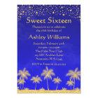 Arabian Nights Stars Sweet 16 Birthday Party Card