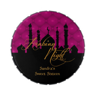 Arabian Nights, Sweet Sixteen Party Favors Jelly Belly Candy Tin