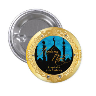 Arabian Nights Theme Party 1 Inch Round Button